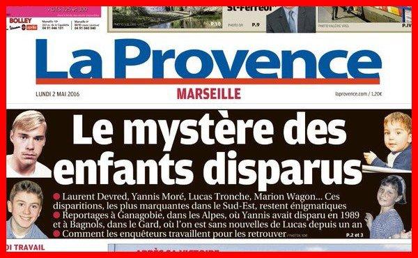 LE MYSTERE DES ENFANTS DISPARUS - SUD-EST    FRANCE -