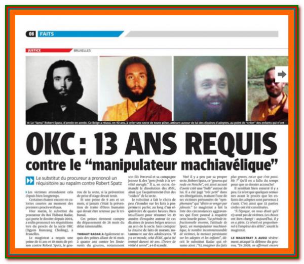 La secte OKC condamnée (15 septembre 2016) - France CASTELLANE (04) + autres pays...
