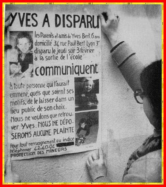 Yves BERT disparu en 1977 toujours recherché (Février 2017)