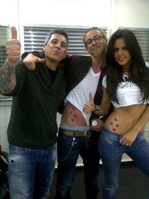 Romina belluscio et guti se sont fait un tatouage commun des traces de pattes de chien ou chat - Trace de patte de chat ...