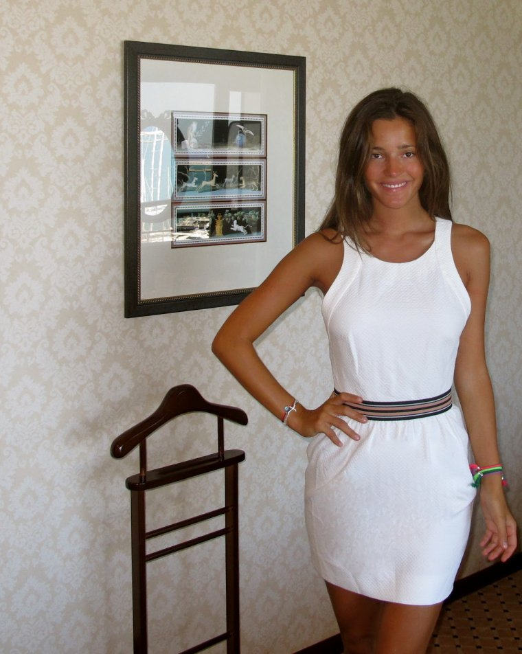 Malena Costa avant l'événement pour Nespresso