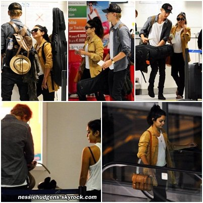 28/05/2012 : Vanessa et Austin à l'aéroport de Nice pour un vol de Barcelone en Espagne