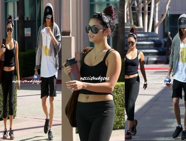 19/07/12 - Vanessa et son Austin Austin Butler, se sont rendus à la gym à Hollywood..