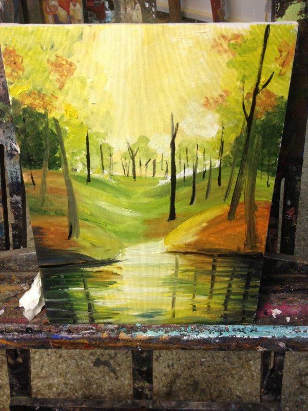 Paint je travaille sur un nouveau tableau