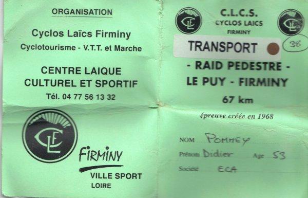 45ème édition du raid Le Puy - Firminy