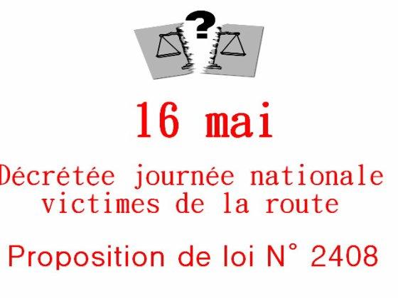 BESOIN DE VOUS...LETTRE A ENVOYER AU PRESIDENT DE LA REPUBLIQUE POUR LA JOURNEE DES VICTIMES DE LA ROUTE