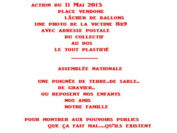 11 Mai 2012 pour toute les victimes de la route
