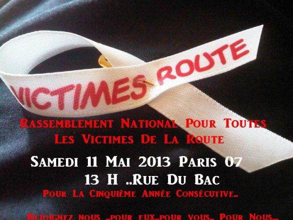 11 MAI 2013_ PARIS-13 H- RUE DU BAC_ RASSEMBLEMENT NATIONAL DES VICTIMES DE LA ROUTE