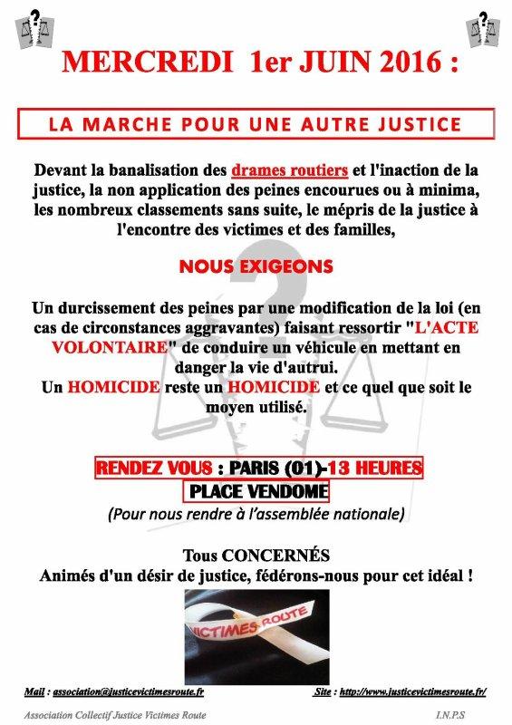 Marche Pour Une Autre Justice 01 Juin 2016 Paris