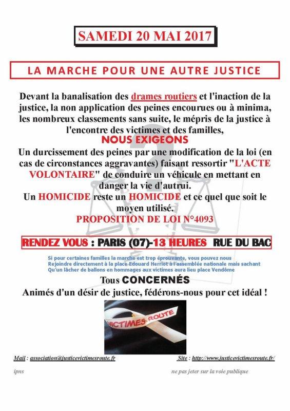 Rassemblement National Pour Une Justice En Hommage Aux Victimes De Délinquance Routière 20 Mai 2017 Paris