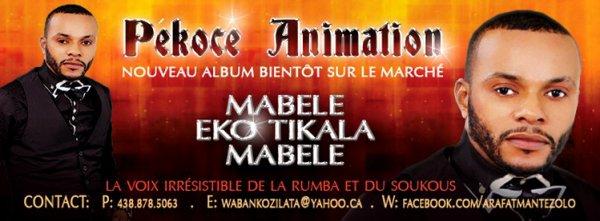 PROMO DE PEKOCE ANIMATION : ALBUM MABELE EKOTIKALA MABELE
