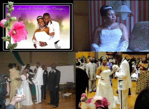 MARIAGE CONGOLAIS A SEATTLE ( USA ) UNION D'AZIANA & BOKONI