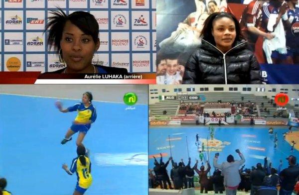 Les léopards Dames handball médaille de bronze de la Can Maroc 2012