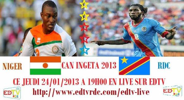 Ce jeudi 24 Janvier 2013 à 18h30 NIGER - RDC