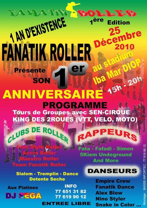 affiche premier anniversaire Fanatik Roller