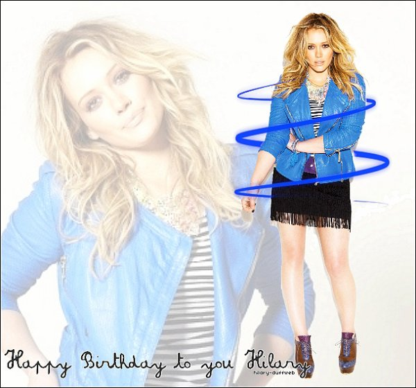.HAPPY 23TH BIRTHDAY TO YOU HILARY ! .