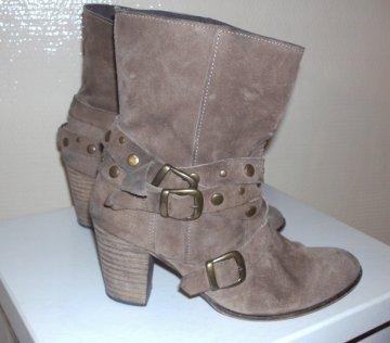 Low boots marron