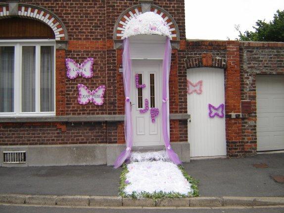 Mariage lucie et jean pierre le 31 07 2010 jonchure for Decoration de porte pour un mariage