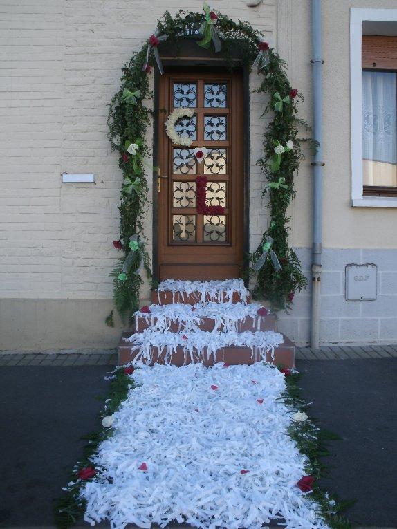 Mariage christophe le 20 08 2011 jonchure fausse for Decoration de porte pour un mariage