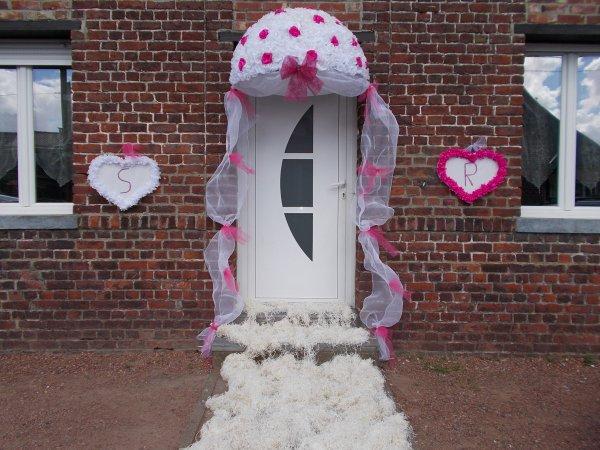 Mariage sandy et romuald 20 ao t 2016 jonchure fausse for Decoration porte entree pour mariage