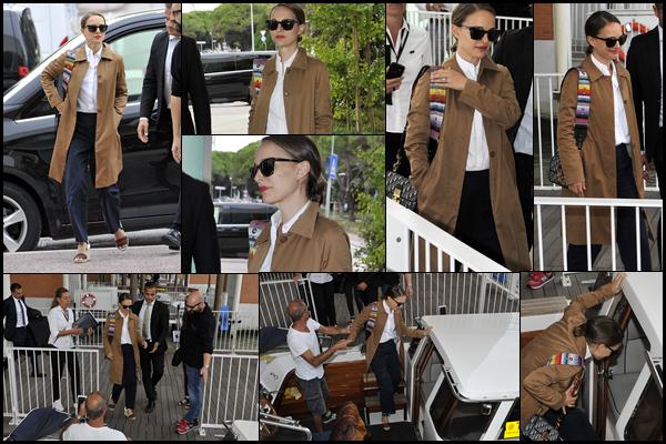 01.09.2018 : Natalie Portman arrive a l'aéroport pendant le 75th Venice Festival du Film à Venise en Italie