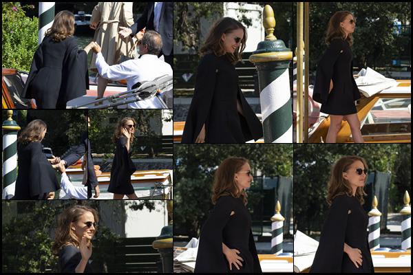 04.09.2018 : Natalie Portman a été vu arrivant à l'Excelsior Hôtel qui est situé dans la ville de Venise en  Italie