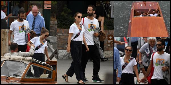 04.09.2018 : Natalie Portman et son mari Benjamin Millepied ont été vu se promenant à Venise en Italie