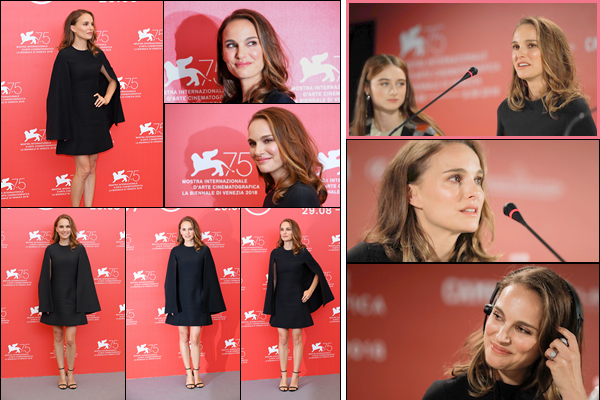 04.09.2018 : Natalie était au photocall de son film Vox Lux puis à une conférence de presse à Venise en Italie
