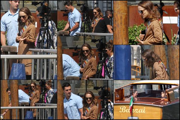 06.09.2018 : Natalie a été aperçue quittant la viille de Venise en Italie après avoir assisté au Festival du Film