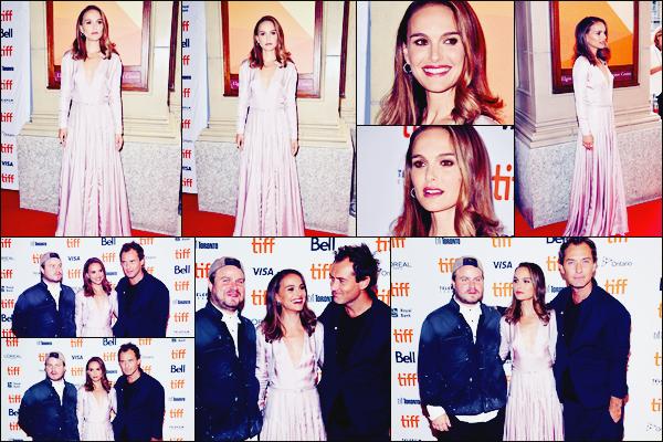 07.09.2018 : Natalie était avec Jude Law au Festival du Film de Toronto pour la première de Vox Lux au Canada