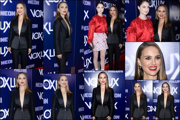 05.12.2018 : Natalie Portman absolument radieuse était présente à la première du film « Vox Lux » à Hollywood
