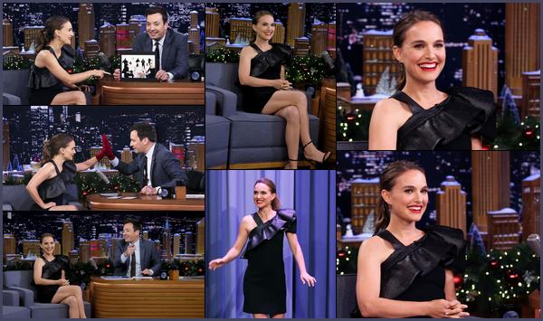 12.12.2018 : Natalie  était sur le plateau du  « Tonight Show de Jimmy Fallon » pour la promo de son film Vox Lux