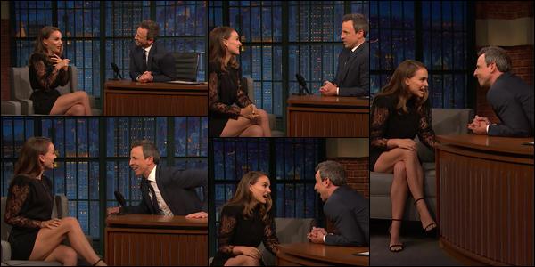 13.12.2018 : Natalie Portmanétait présente avec Brady Corbet à la première de « Vox Lux » à New York   Dans la même journée Natalie s'est rendue sur le plateau du « Late Night de Seth Meyers » pour la promo de son film Vox Lux