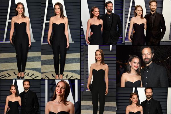 24.02.2019 :  Natalie P. et son mari Benjamin M. étaient aux « Vanity fair Oscar Party 2019 » - à Beverly Hills    Natalie Portman est vraiment magnifique et époustouflante dans cette tenue et ce make-up pour moi c'est un gros top !