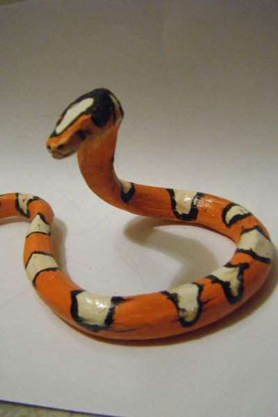 realistic serpent orange (argile)