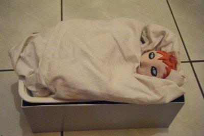 refait: realistic baby: gaara of the desert (argile)