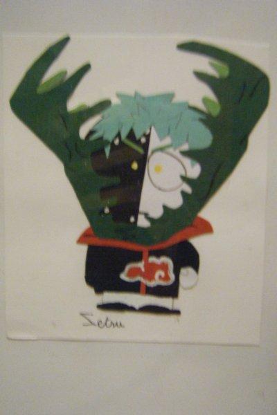 Zetsu South park (papier cartonné de couleur)
