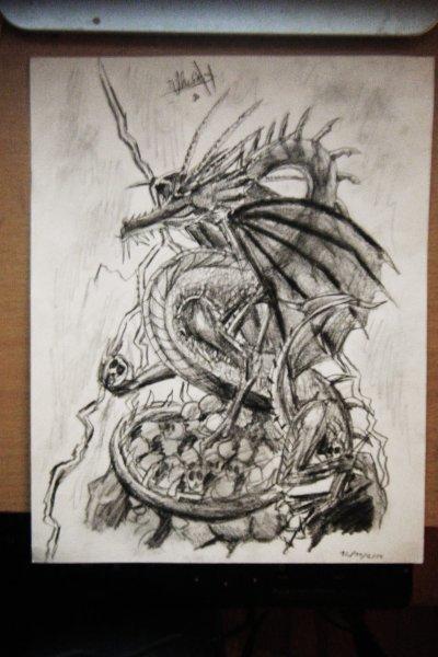 Dragon bleu pour un pote (avec modèle)