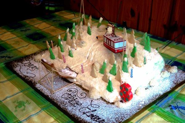 Gâteau montagne.