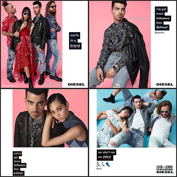 . Joe Jonas|| Photoshoot de son groupe DNCE pour Diesel SS16. || 11/01/16 .