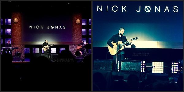 . Nick Jonas|| Il a chanté à la Viacom Town Hall de New York. || 12/01/16 .