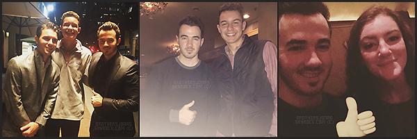 . Kevin Jonas||Kevin était au restaurant avec des amis à Manhattan, New York. || 16/01/16 .