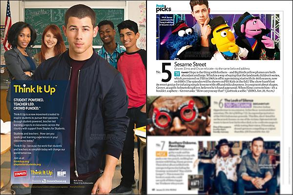 . Nick Jonas|| Nick est apparu dans un article du magazine américain: PEOPLE. || 20/01/16 .