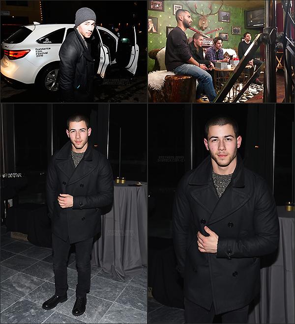 . Nick Jonas|| Nick J. au festival du film à Park City dans l'Utah. || 22/01/16 .