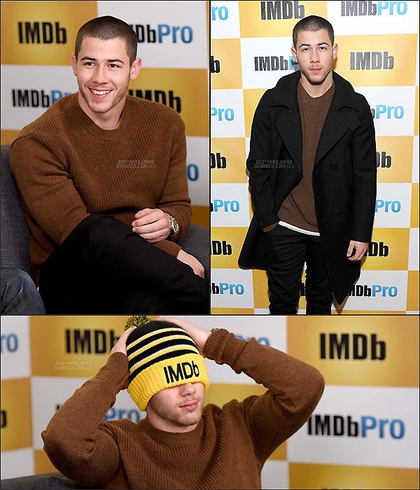 . Nick Jonas|| Il a donné une interview pour les studios IMDb à Park City. || 22/01/16 .