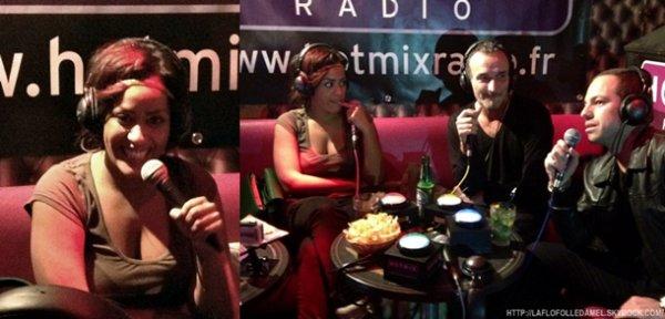 ● Amel Bent au Banana Café pour  Hotmix Radio (05.01.12) ●