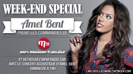 ✦ Week End Spécial Amel Bent sur MFM ce dimanche 29.O1 à 19h ! ✦