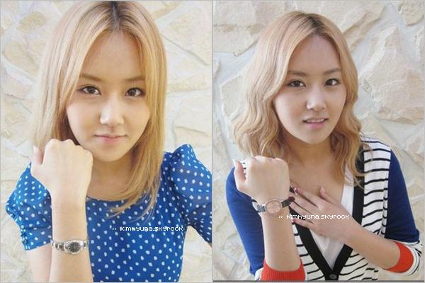 Quelques photos des filles - on peut remarqué que Ga yoon est devenue brune.