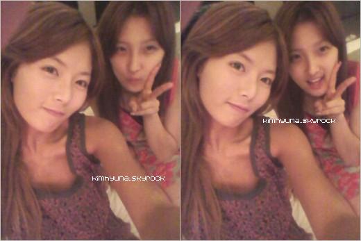 Quelques photos de HyunA et Ji hyun sans cosmetiques.