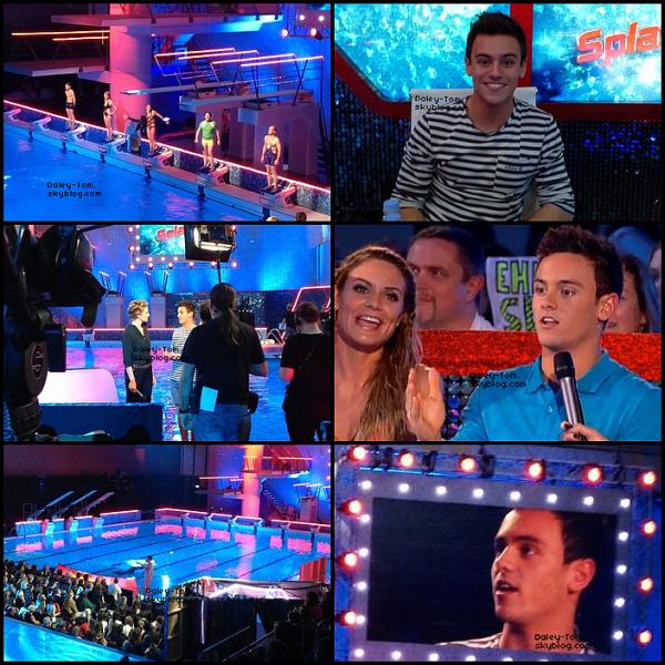 13.01.2013 - Tom présentait le second épisode de la série Splash ou il à recu la visite de Tonia Couch et Niall Horan.